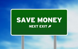 green save money highway sign
